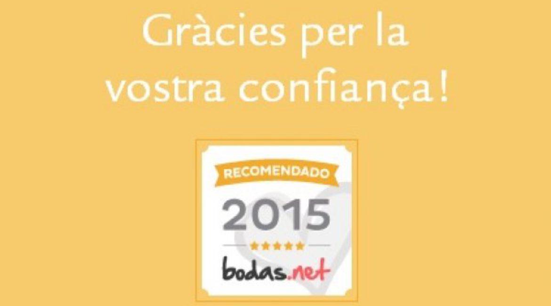 Mas de Sant Lleí obtaine the Gold Seal of Bodas.net