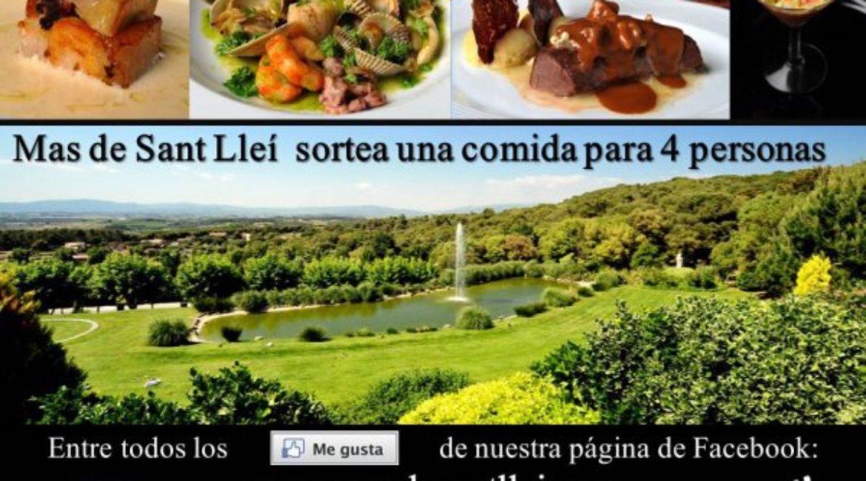 Participa en el sorteo de una comida para 4 personas en el Mas de Sant Llei