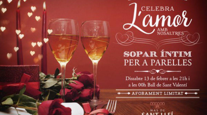 San Valentín en Mas de Sant Lleí: cena íntima y baile