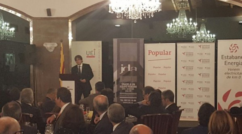 5de Nit Empresarial van de Unió d'Empresaris Intersectorial gehouden in Mas de Sant Lleí.