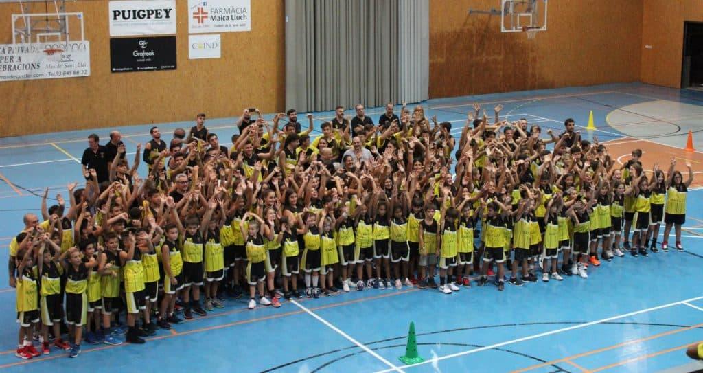 Mas de Sant Lleí, patrocinador oficial del club de básquet de Vilanova del Vallés durante la temporada 2019-2020