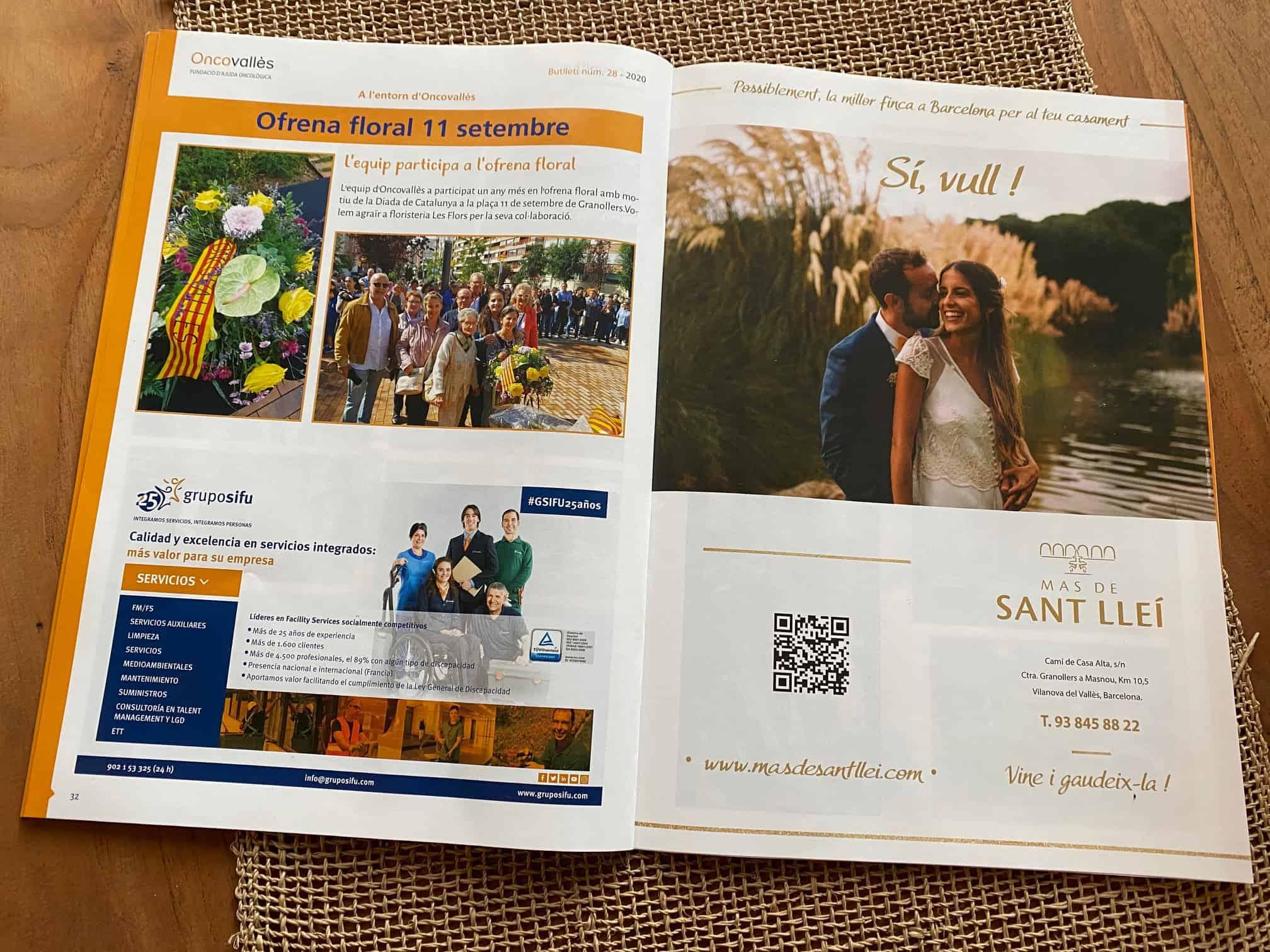 Mas de Sant Llei colabora un año más con la Fundación Oncovallès