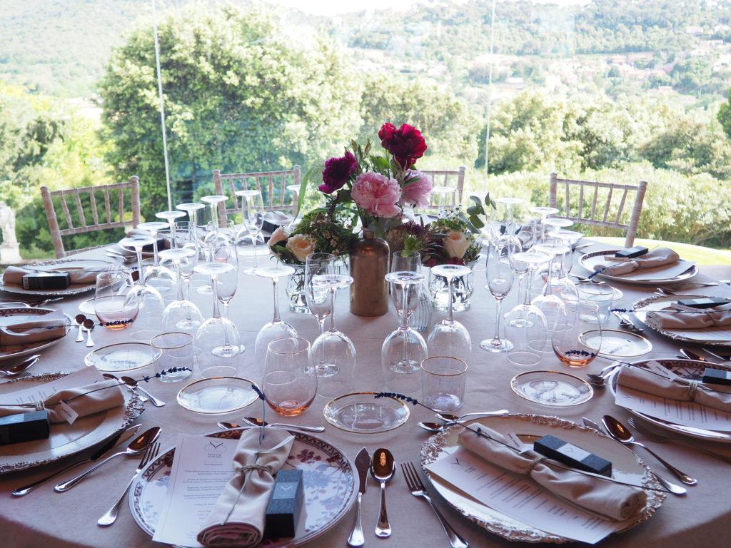 Mas de Sant LLeí - Mesa bodas interior
