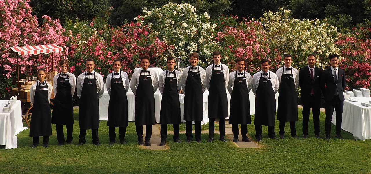 El equipo de restaurante de Mas de Sant Lleí. Bodas Barcelona de alta calidad